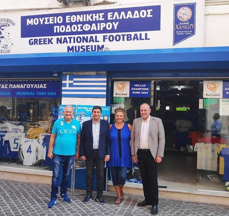 Επίσκεψη του υφυπουργού αθλητισμού και υφυπουργός παιδείας στο μουσείο μας
