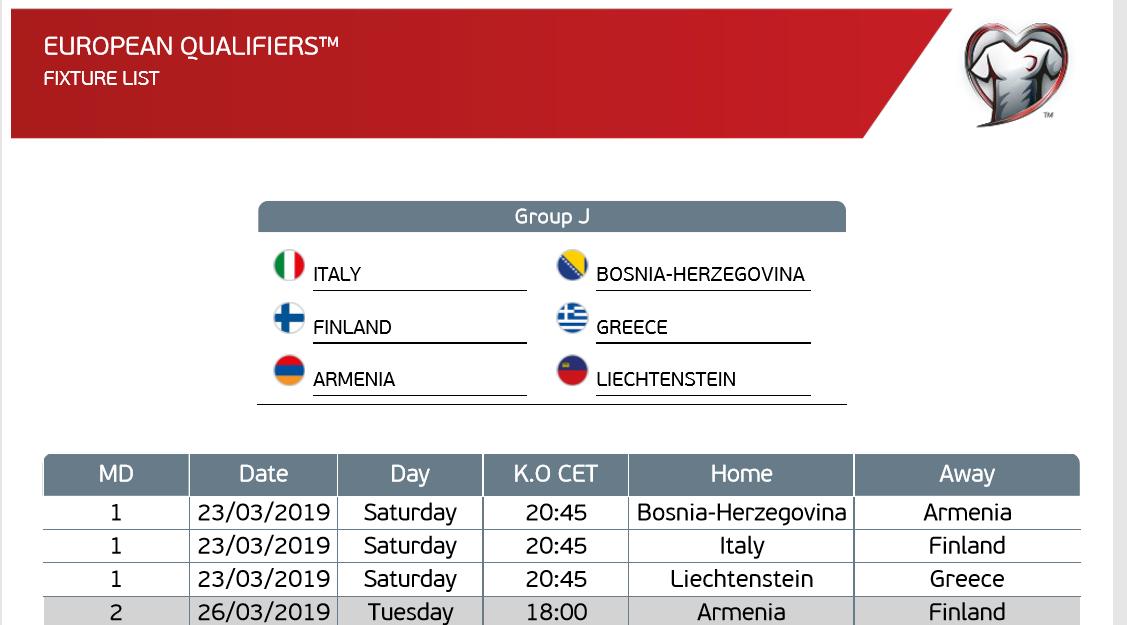 Το πρόγραμμα της Εθνικής ομάδας στο EURO 2020!